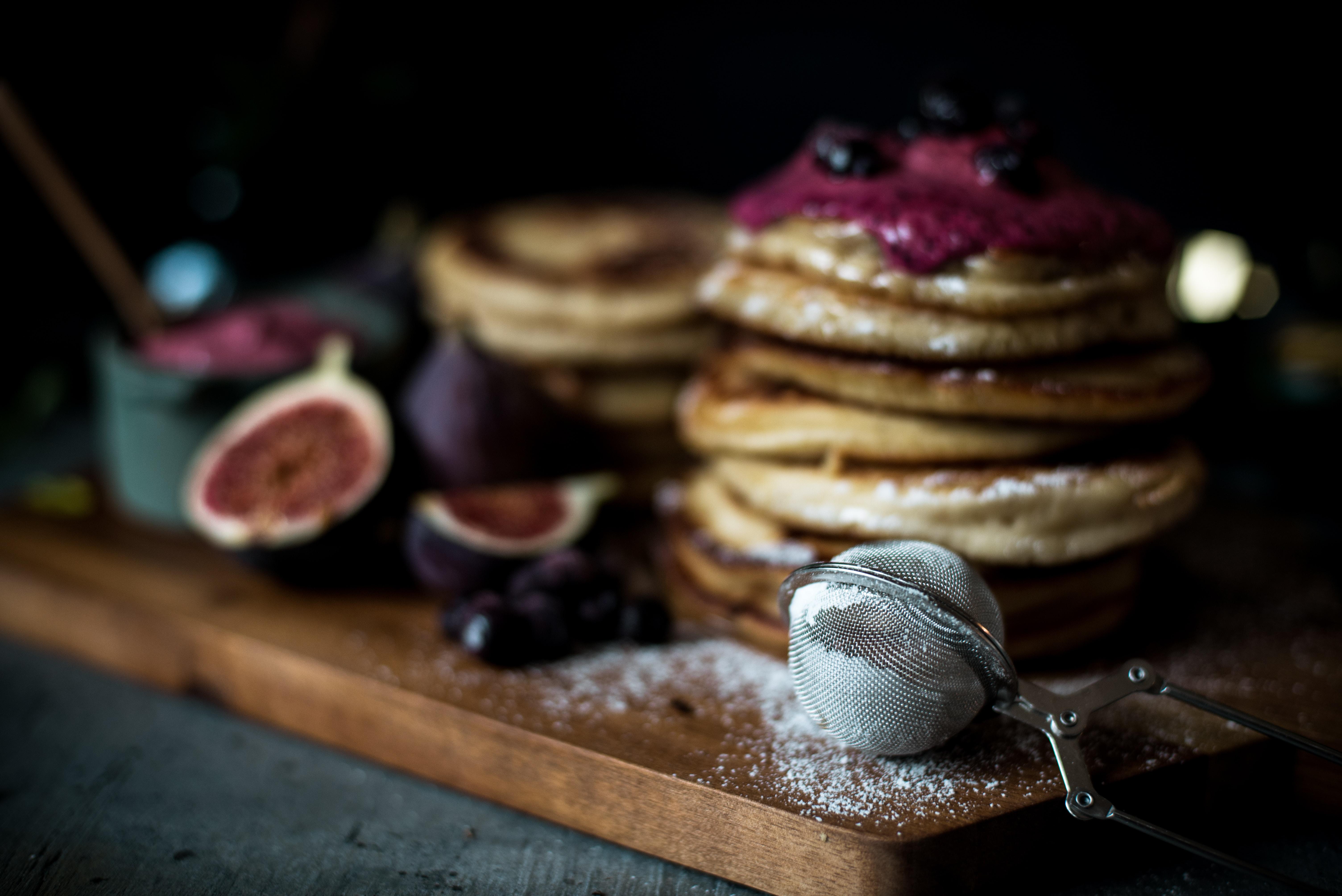 Pancake making in the process